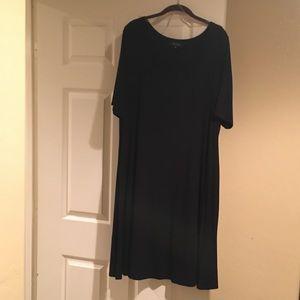 Karen Kane Plus Size (2x) Black Rayon Dress
